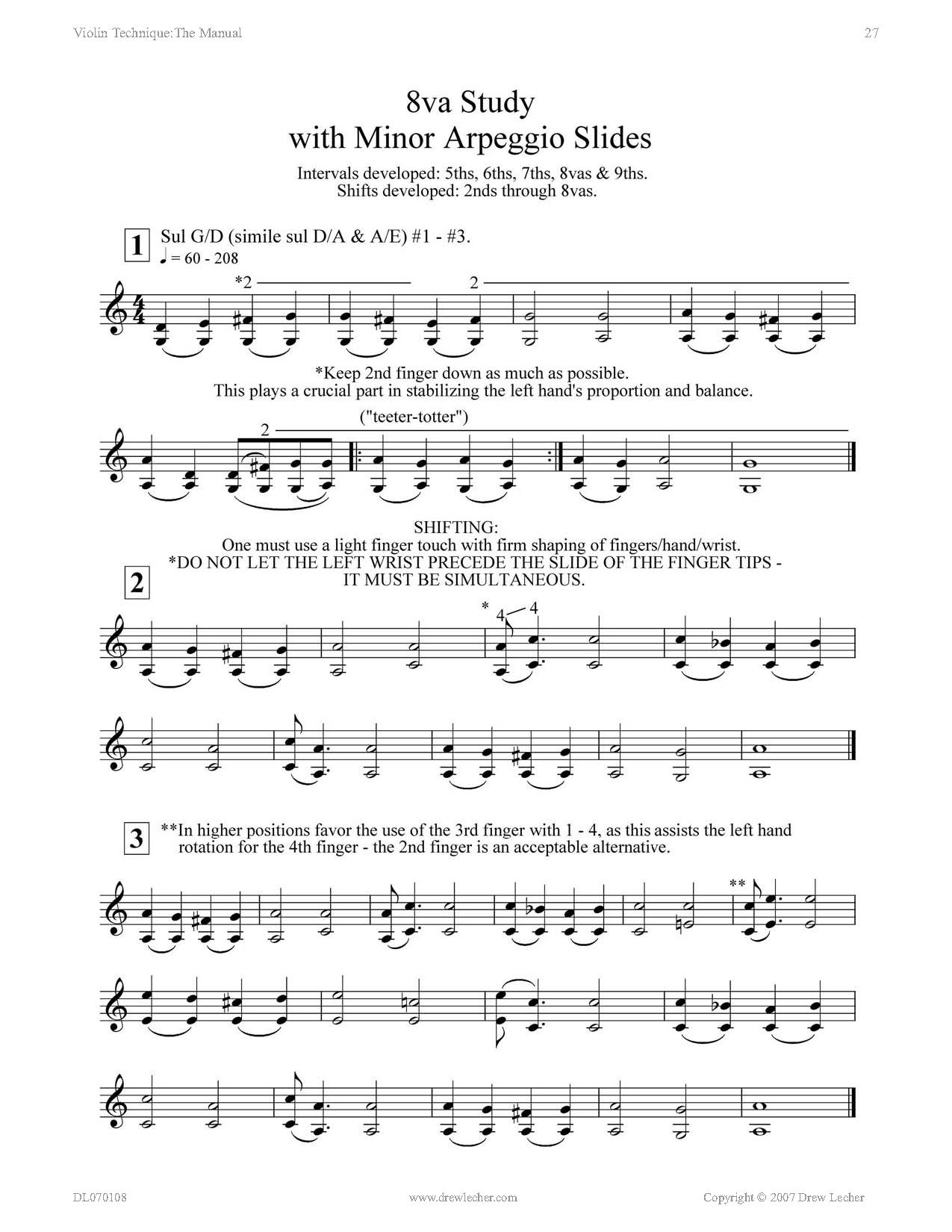 Violin Technique: The Manual